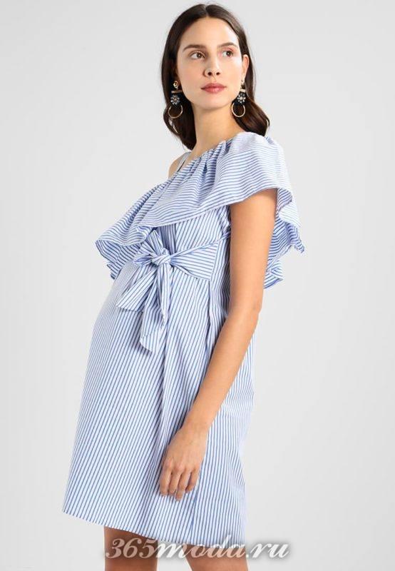 Голубое платье для беременных