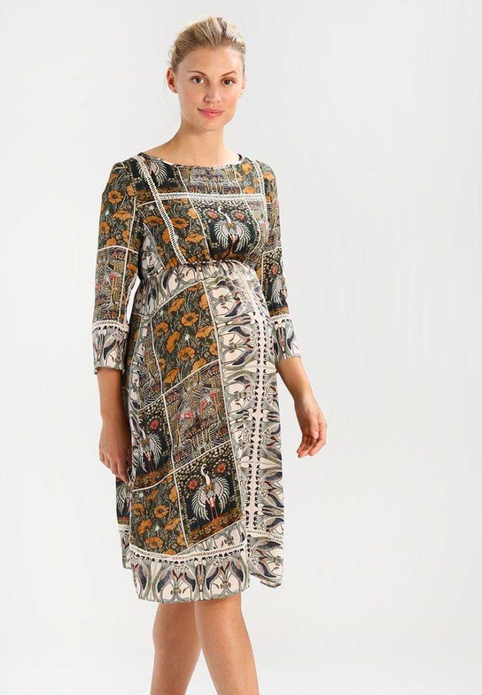 Платье для беременных цветастое