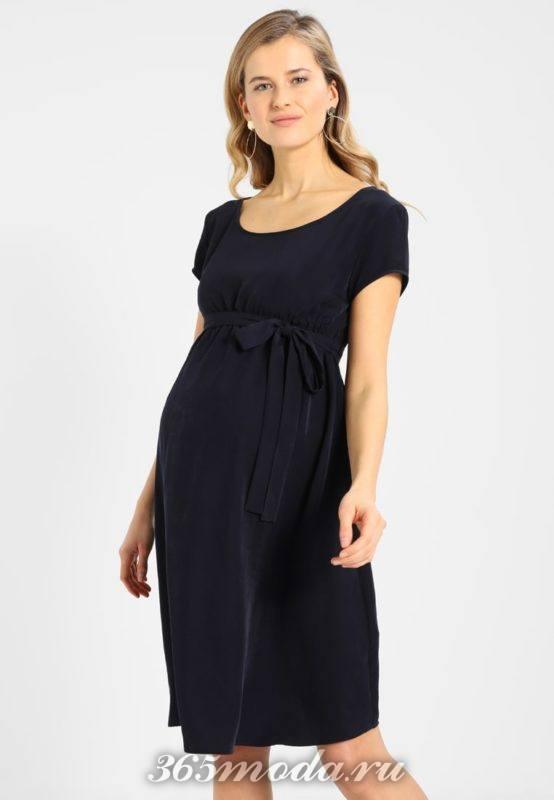 Платье для беременных черное