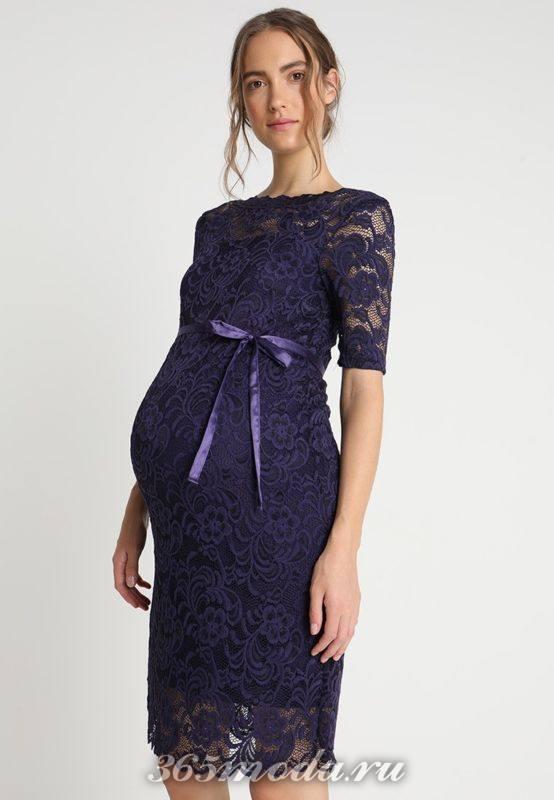Вечерне фиолетовое платье для беременных