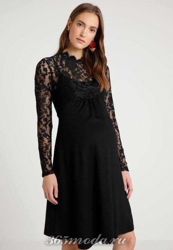 Вечерне черное платье для беременных