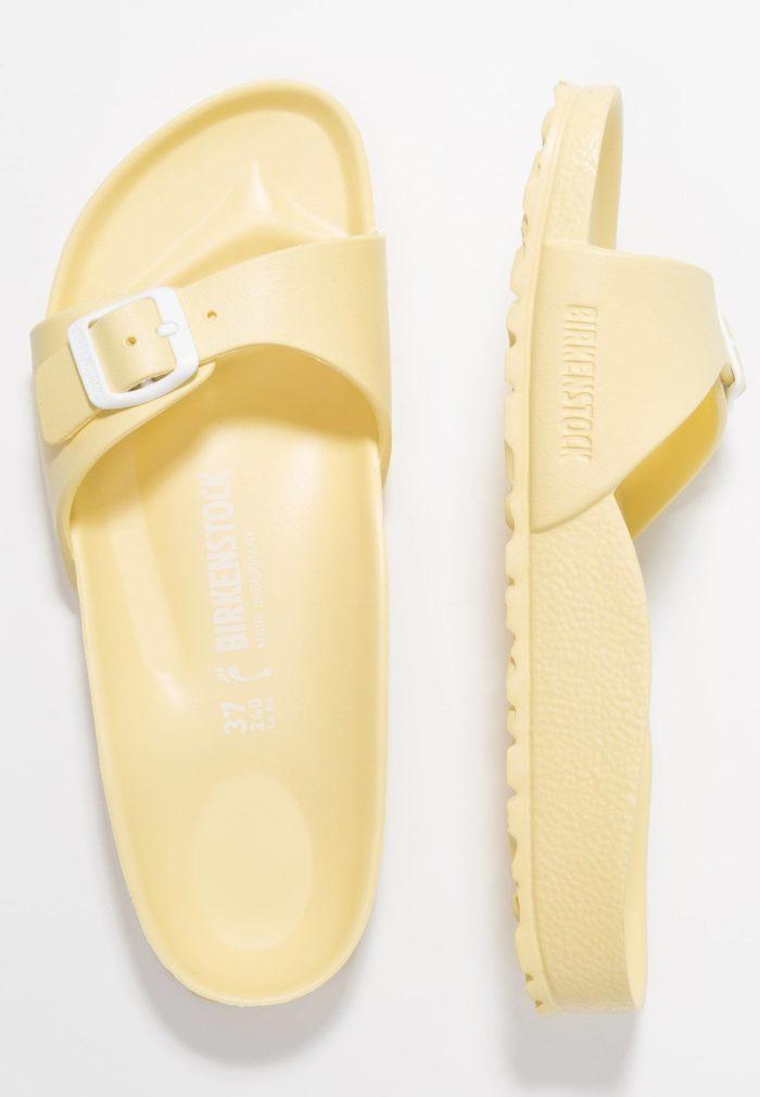 Шлепанцы желтые