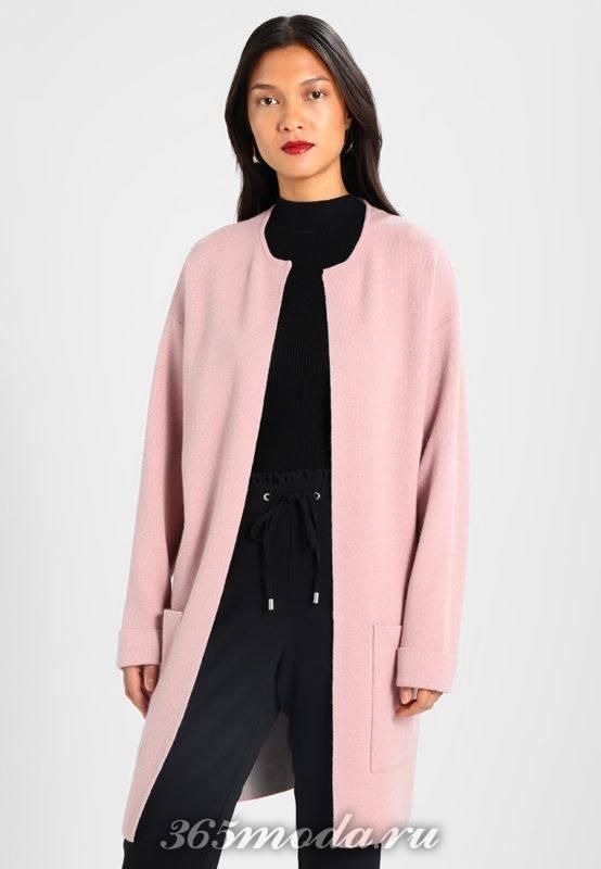 Розовый кардиган