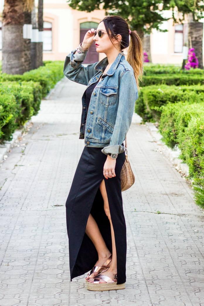 женские луки весна 2022: джинсовая куртка