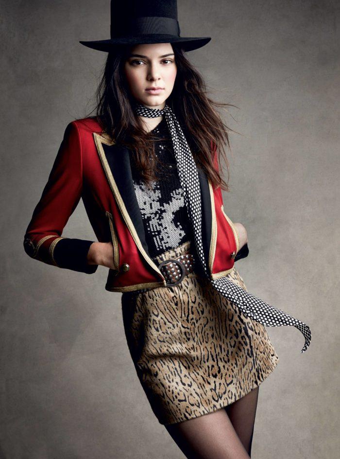 пиджак с леопардовой юбкой