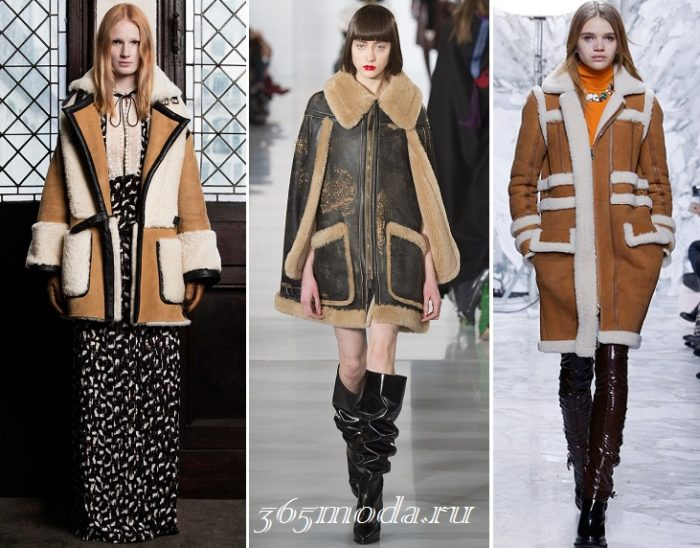 Модные женские дубленки осень-зима 2019-2020: бежевая и коричневая