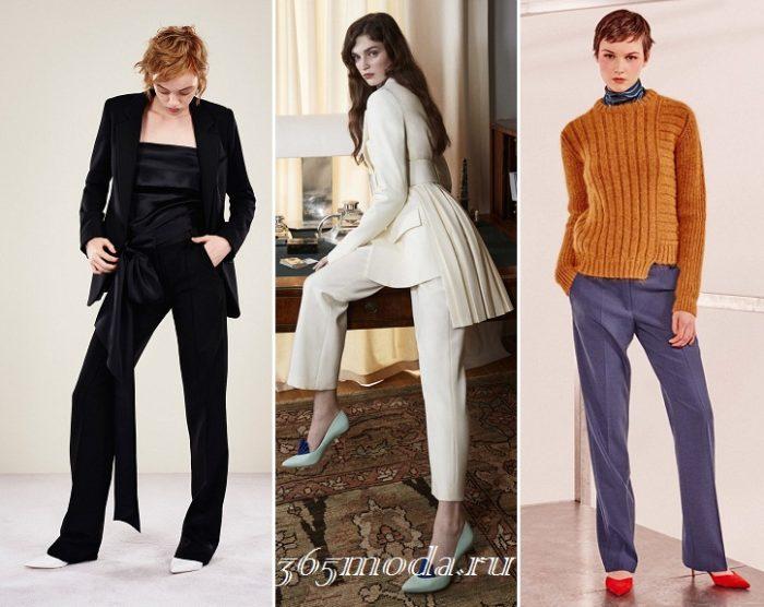 женские брюки осень-зима 2019-2020