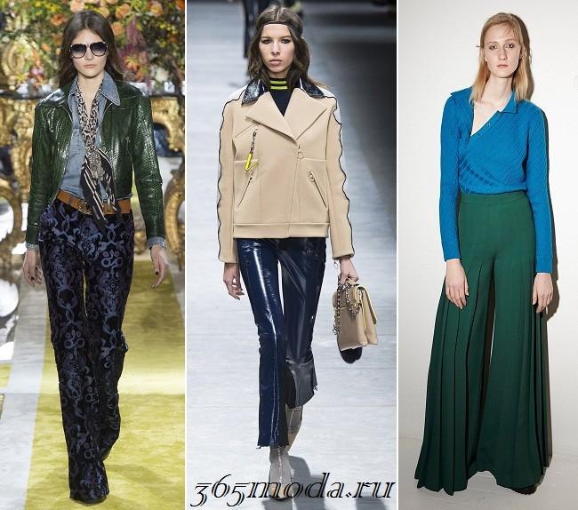 Женские брюки зима осень