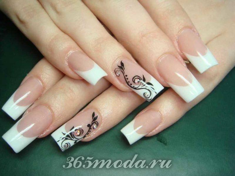 дизайн ногтей шеллаком с рисунком