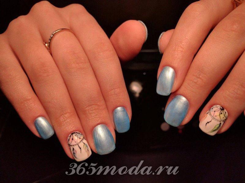 дизайн ногтей шеллак с рисунком