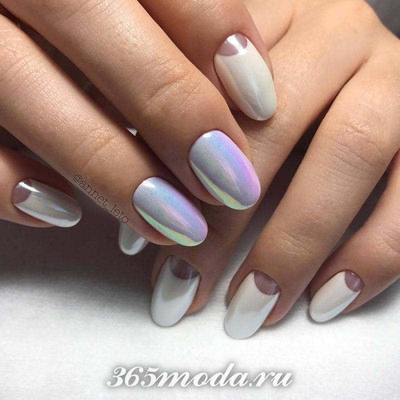 Лунный дизайн ногтей шеллак
