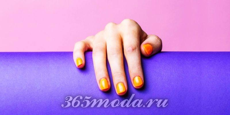 Маникюр оранжевый