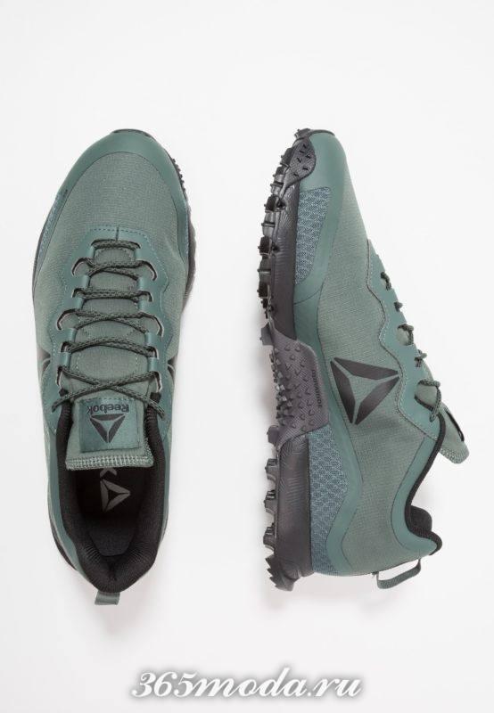 Мужские кроссовки зеленые