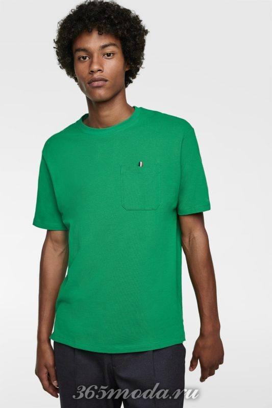 Мужская футболка зеленая
