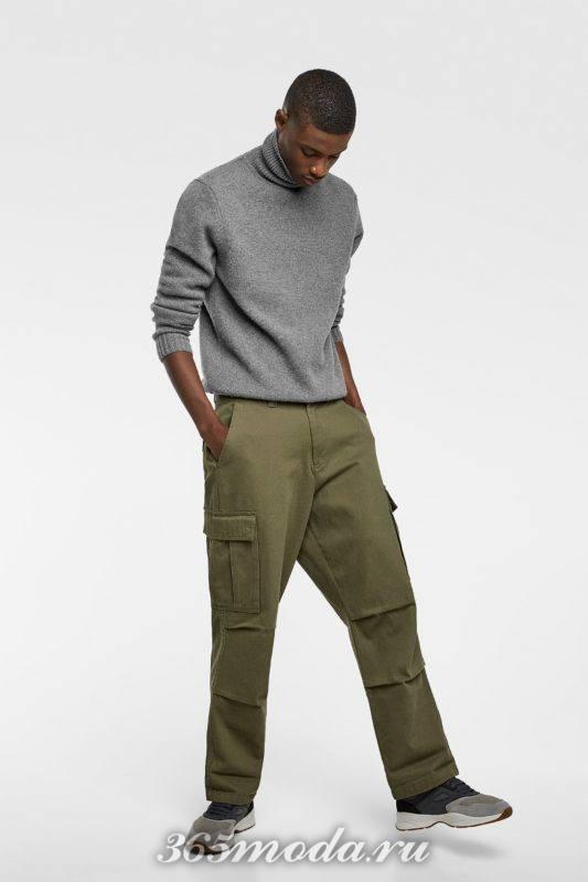 Мужской свитер серый