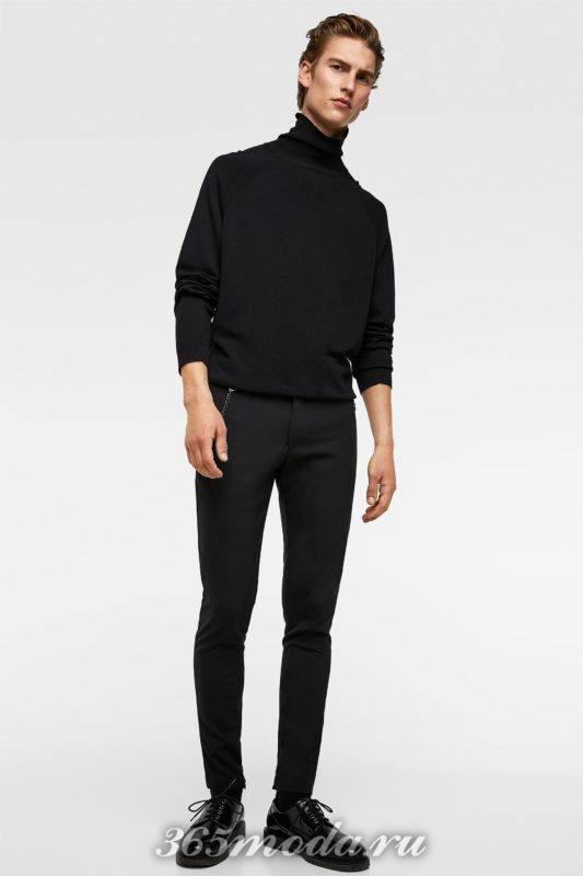 Мужской свитер черный