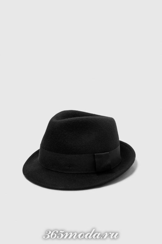 Мужская шляпа черная