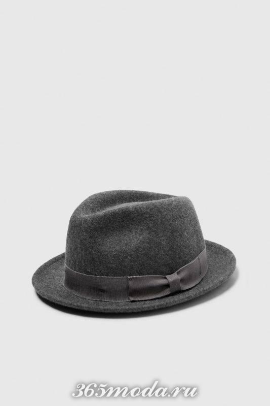 Мужская шляпа серая