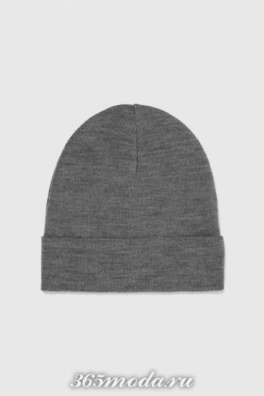 Мужская шапка серая