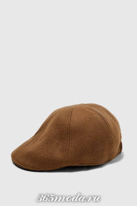 Мужская кепка коричневая