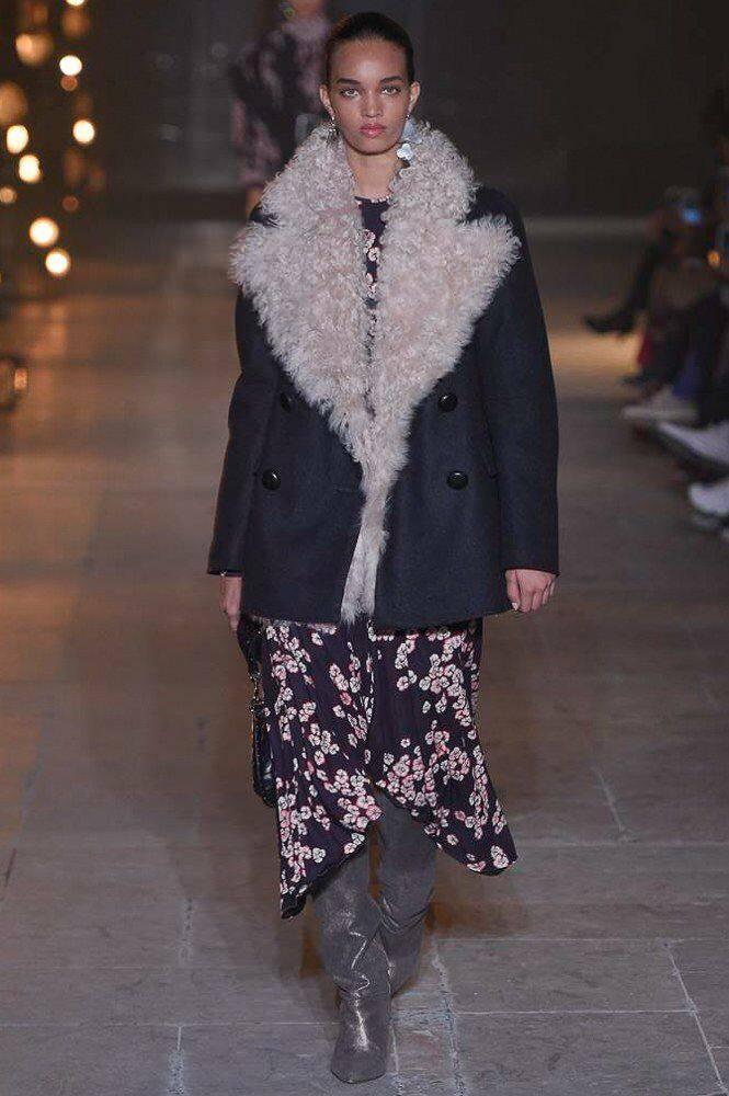 женские дубленки осень-зима 2019-2020: меховой воротник