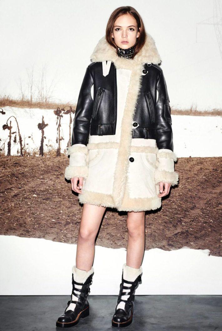 Модные женские дубленки осень-зима
