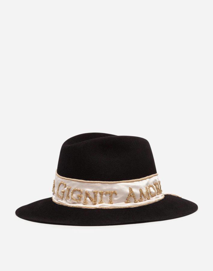 головные уборы: Женская шапка черная