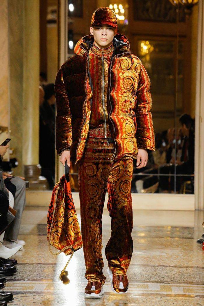 Мужской авангардный спортивный костюм