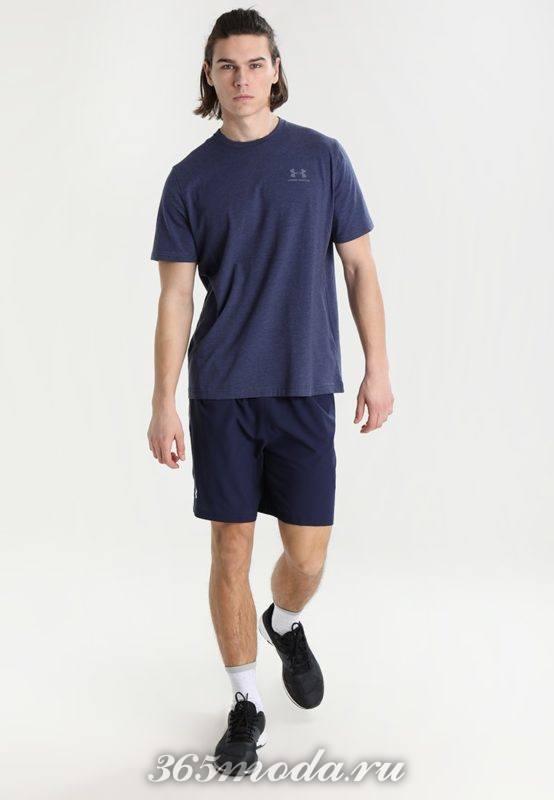 Мужской спортивный костюм синий