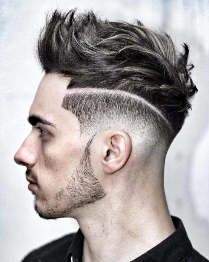 Мужская стрижка с челкой