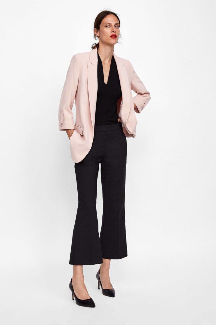 нежно-розовый пиджак