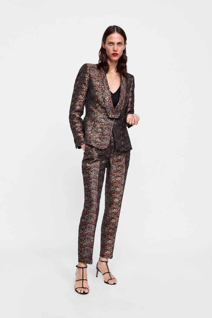 цветастый пиджак бронзовый