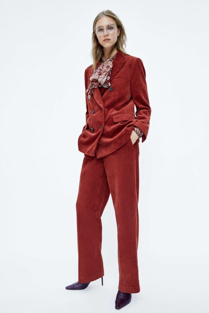 Женский бардовый пиджак
