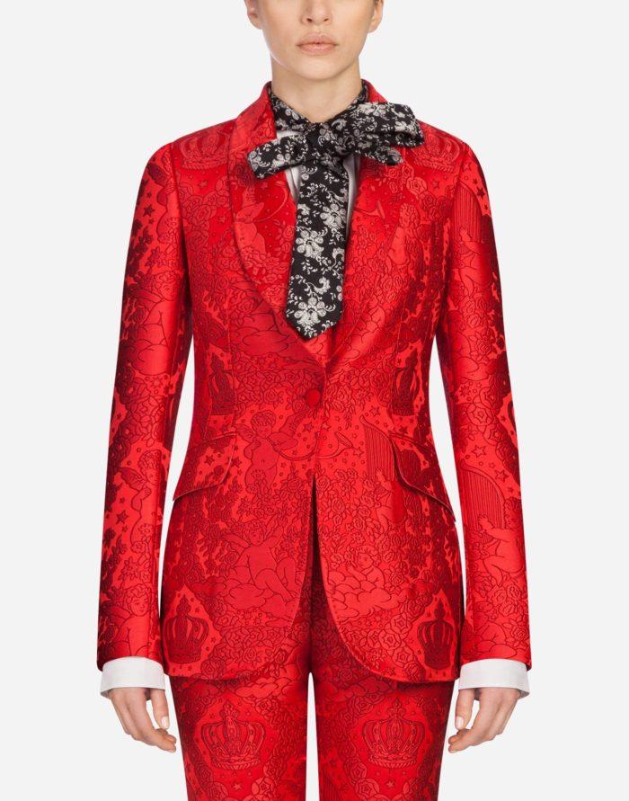модные жакеты осень-зима 2019-2020: красный