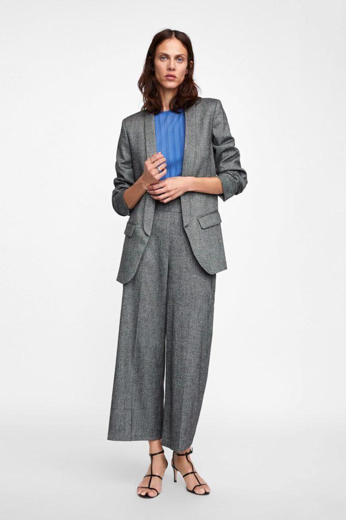 Женский пиджак серый