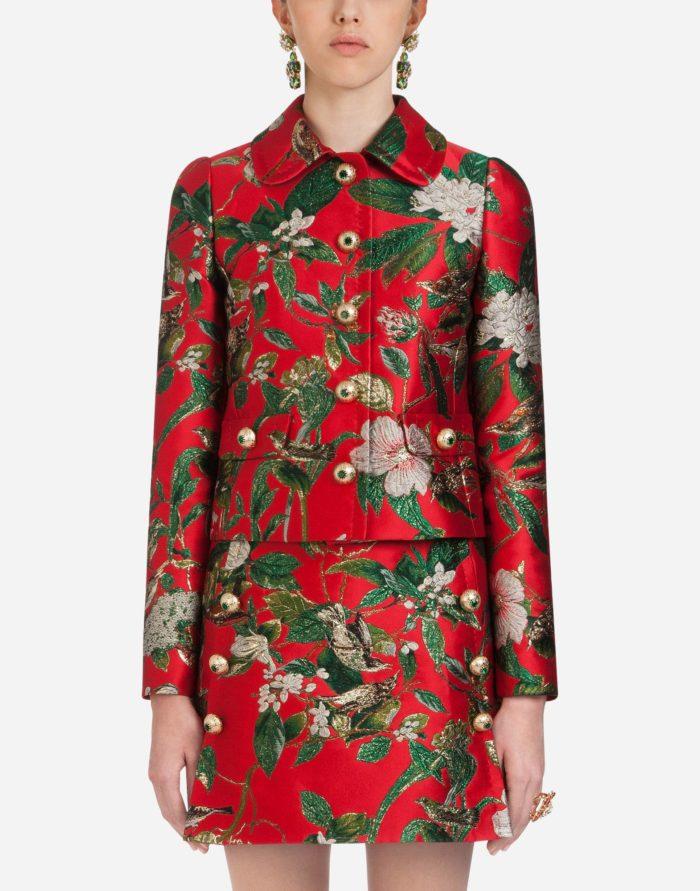 модные жакеты осень-зима 2019-2020: в цветок