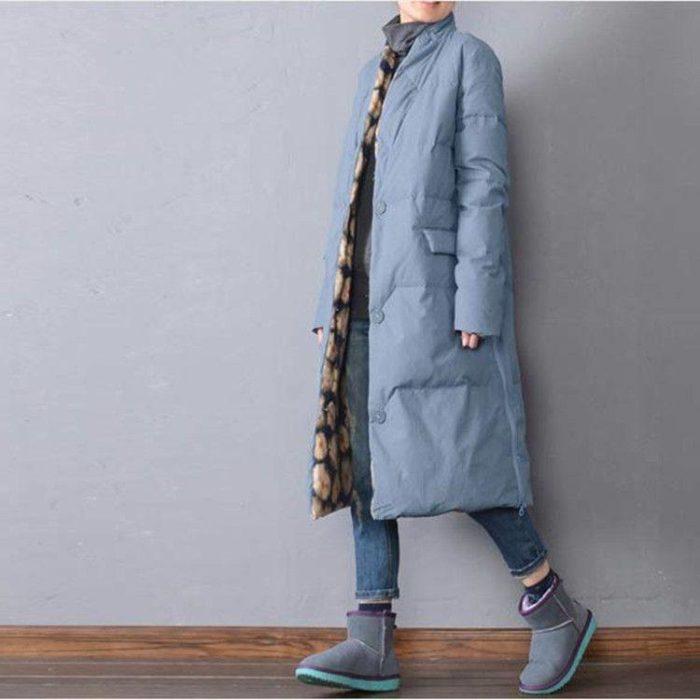 Модные пуховики осень-зима 2019-2020: голубой