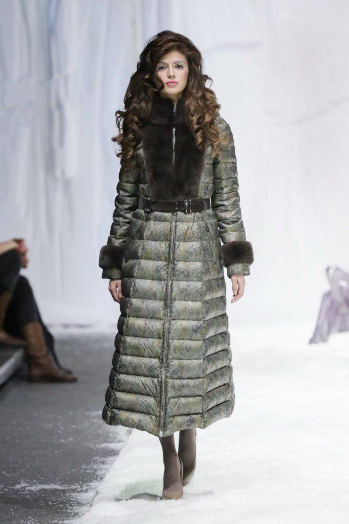 Модные пуховики осень-зима 2019-2020: длинный зеленый