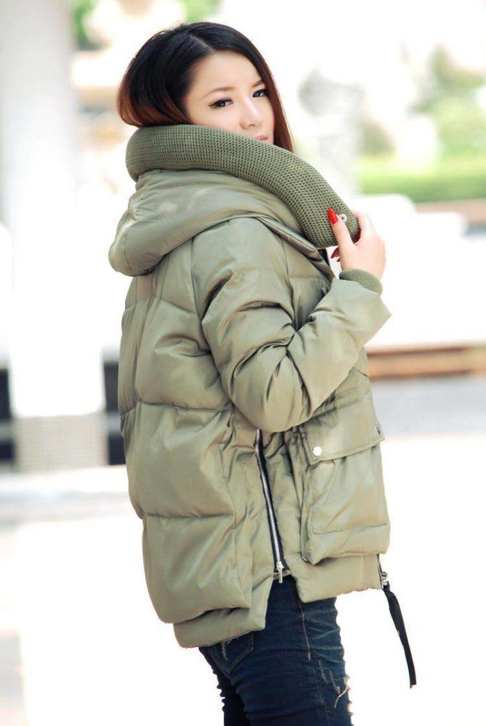Модные пуховики осень-зима 2019-2020: болотный