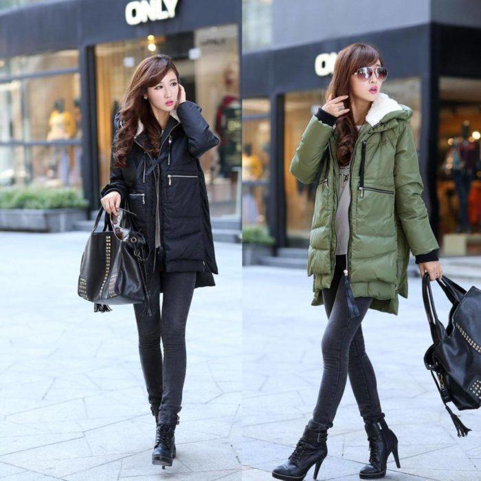 Модные пуховики осень-зима 2019-2020: черный и зеленый