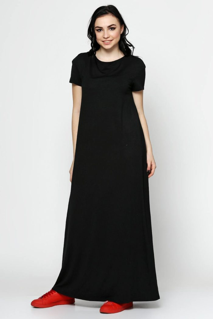Туника длинная черная