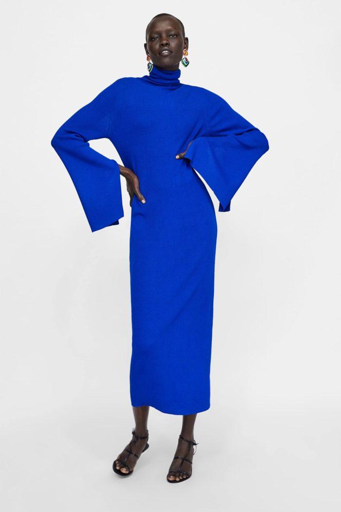 Туника длинная синяя