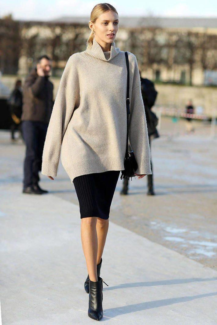 Стильный образ с юбкой