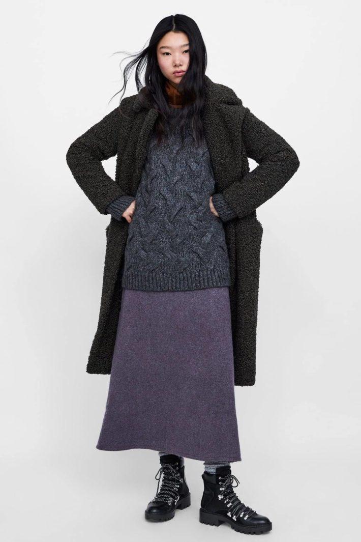 Стильный образ с юбкой длины миди