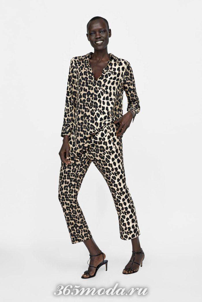 принт леопард