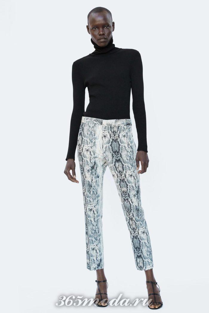 Женские брюки на осень и зиму в принт