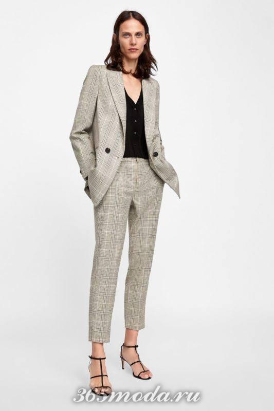 Женские брюки серые