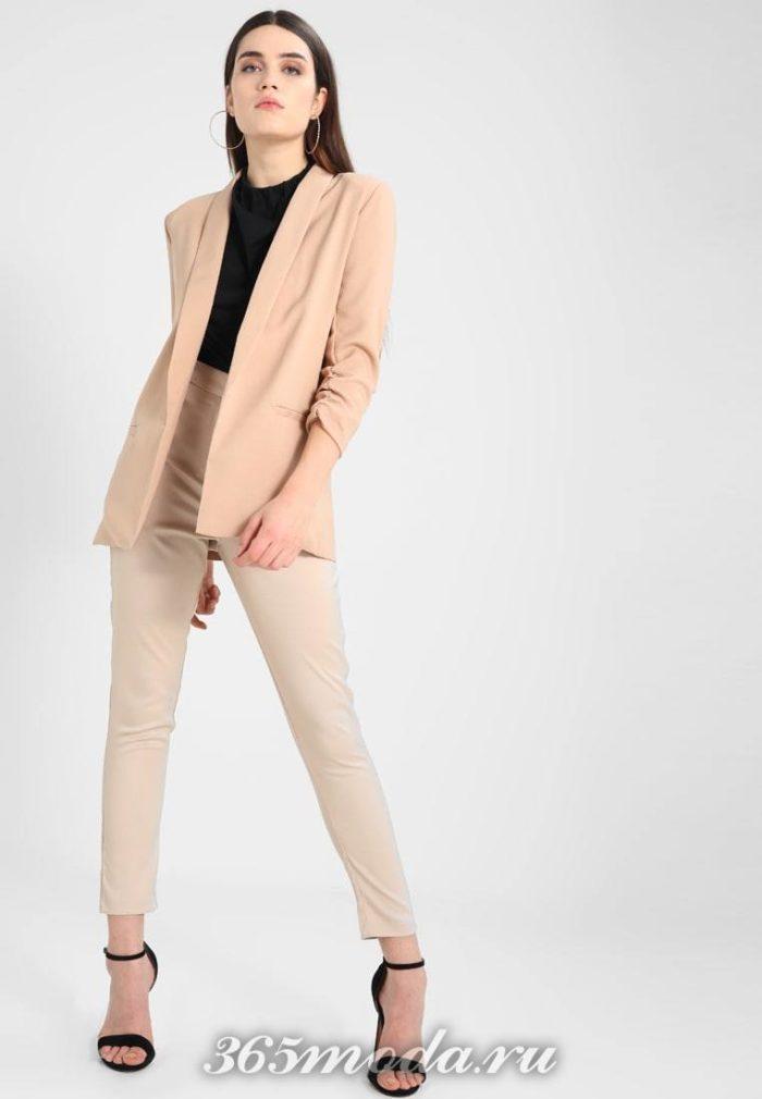 женские брюки осень-зима 2019-2020: розовые