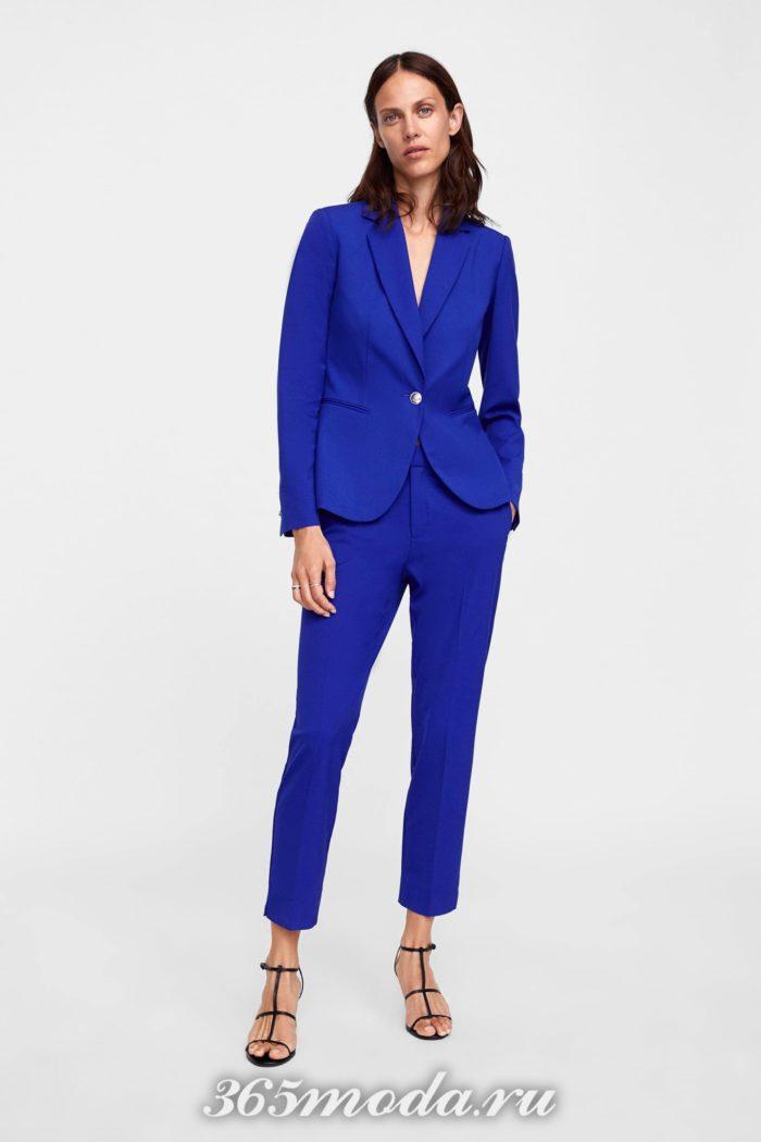 женские брюки осень-зима 2019-2020: синий