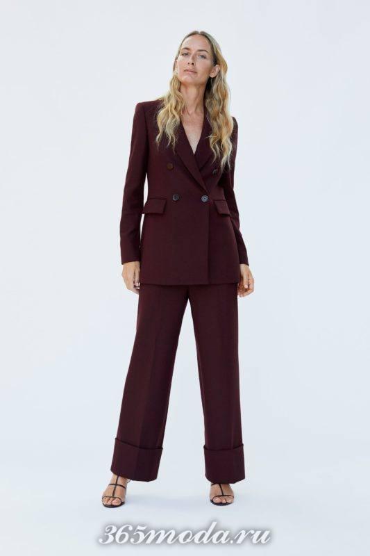 Женские брюки бардовые